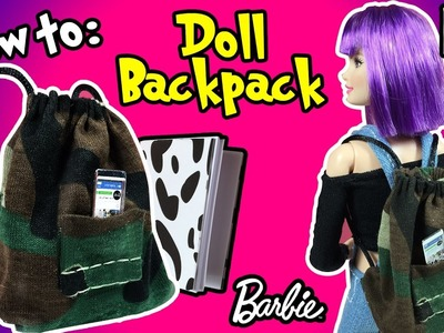 DIY - How to Make Backpack For Barbie Doll - Diy Miniatures Tutorial - Making Kids Toys