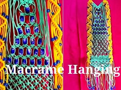DIY How to make beautiful Macrame hanging.jhula. Full making video.