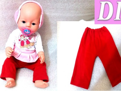 DIY how to make clothes for dolls (reborn dolls or baby born)