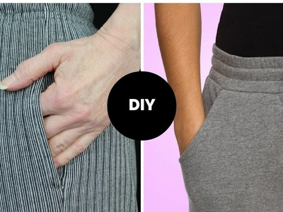 DIY I HOW TO SEW POCKET I 2 WAYS I INSEAM & FRONT HIP
