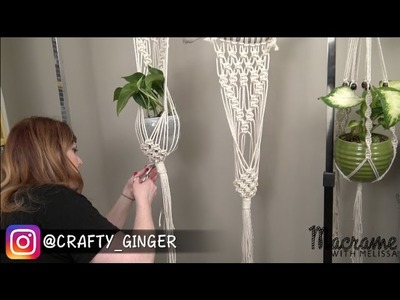 DIY Macrame Tutorial: Macrame Plant Hanger for Beginners #4 of 4