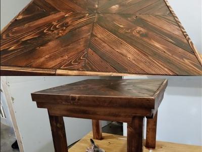 DIY pallet wood end table tutorial- EASY!!