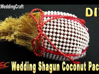DIY Wedding shagun nariyal packing | How to decorate Shagun Coconut | JK Wedding 119