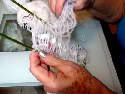 Estola o shawl, manta bebe de flores a crochet. Hair pin lace miñardi horquilla grampa