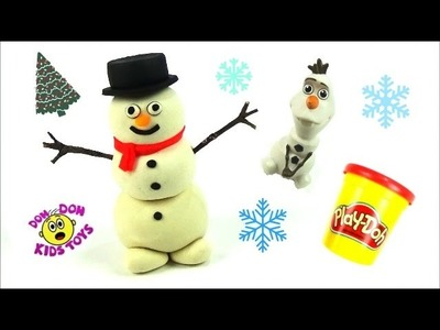 Have fun learning how to make a Play Doh Snow Man – Frosty the Snowman