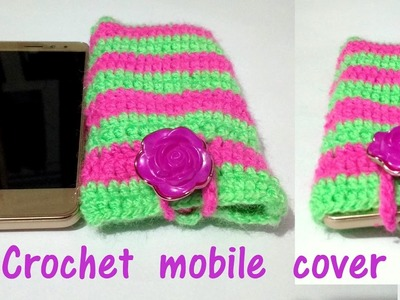 How to crochet a mobile phone cover | step by step tutorial