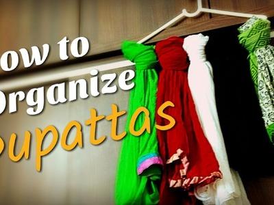 How to fold dupatta, organize dupatta, scarf organizer