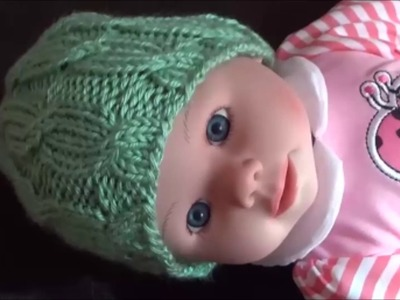 How To Knit A Cable Hat For A Baby, Lilu's Handmade Corner Video # 123