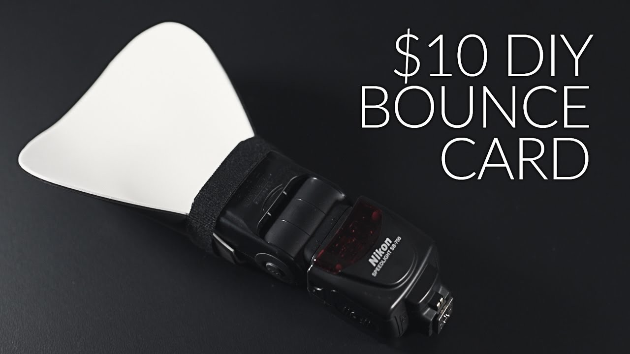 How to Make a $10 Bounce Card for your Flash or Speed light