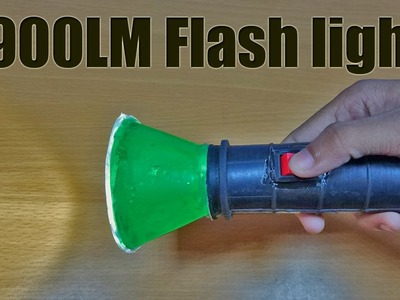 How to make a 900LM flash light | EasyDIY led torch light