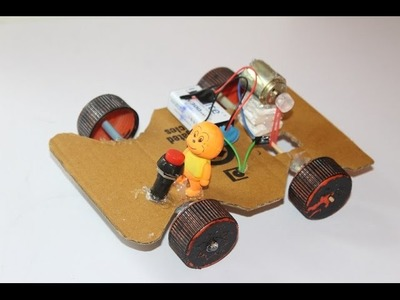 How to make a Battery Operated  Car with DC motor