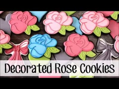 How to Make a Decorated Rose Sugar Cookie