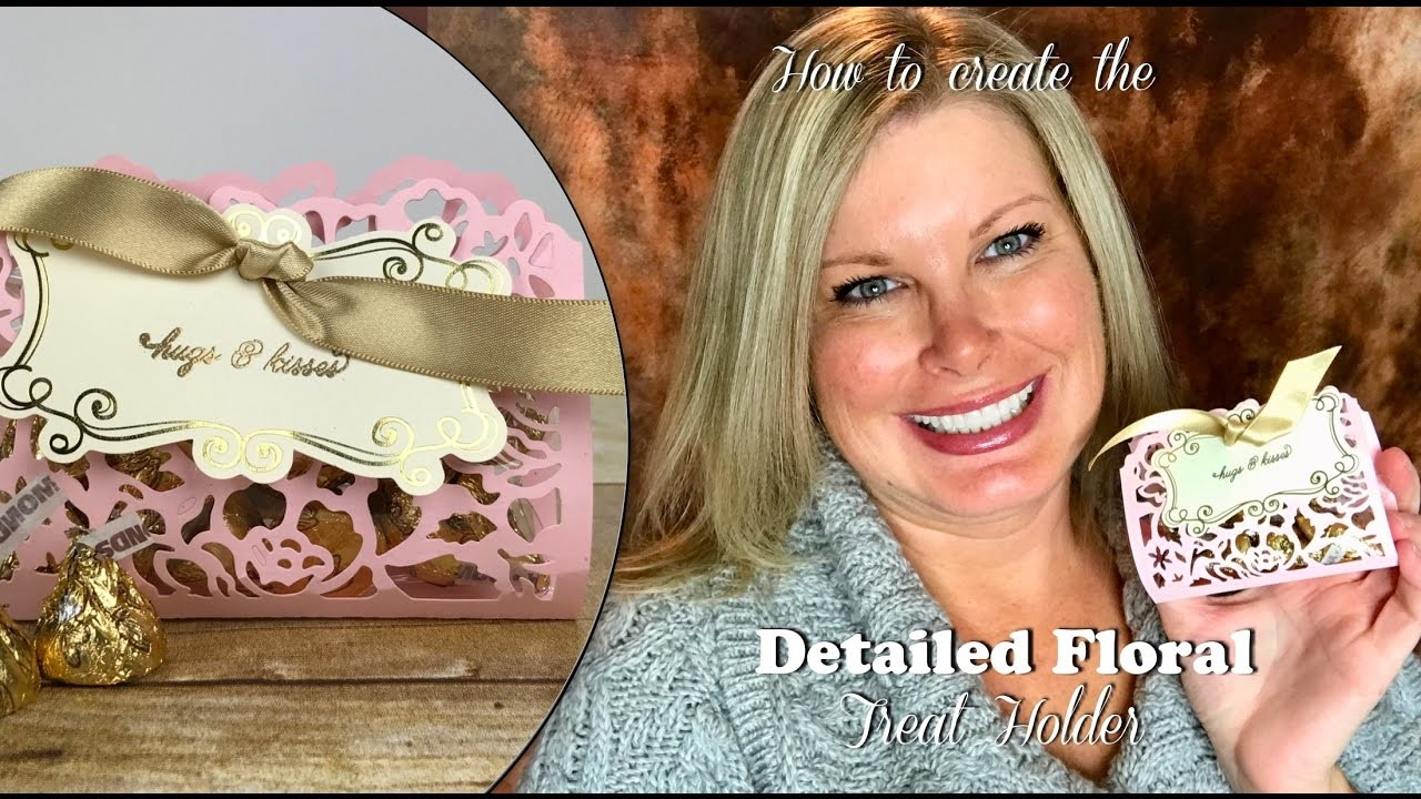 How to make a Detailed Floral Treat Holder for Valentine's Day with Stampin Up