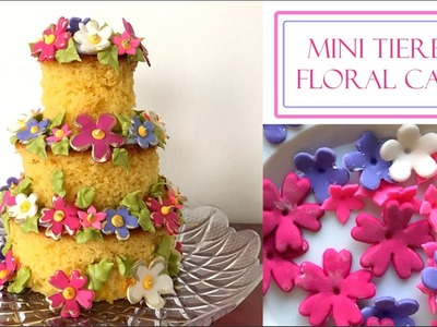 How to make a Mini Tiered Cake | Rustic Floral Design