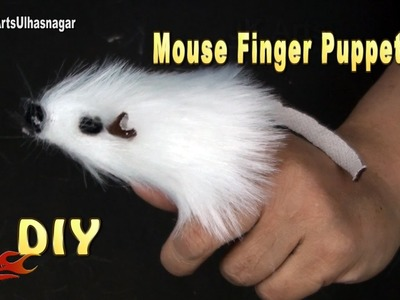 How to make a Mouse finger puppet  | No Sew DIY | JK Arts 1161