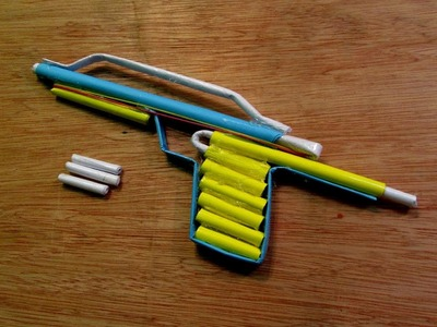 How to Make a Paper Toy Serwala Gun that shoots paper bullet