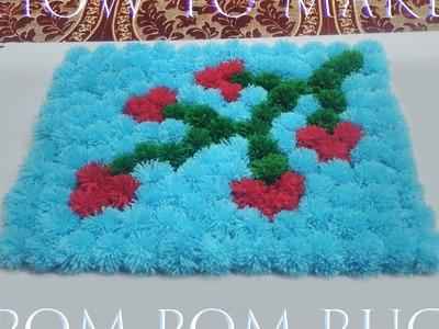How to Make a Pom Pom Rug. Pom Pom Mat - By Arti Singh