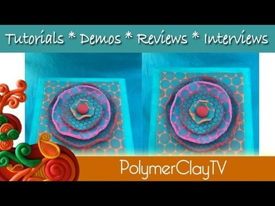How to make a punchinella polymer clay flower