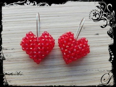 How to make a small heart earrings - DIY Valentine's day project