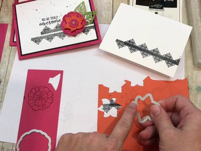 How to make an AWESOME Falling Flowers Card!