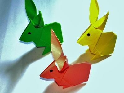 How to make an easy paper rabbit with Sokoun - Origami & Papercraft Tutorials- Cambodian making