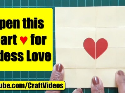 How To Make An Endless Love Valentine Card | Easy Never Ending Card | Valentines Day Card Making