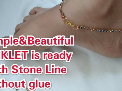 How to make anklet at home |By House of fashion