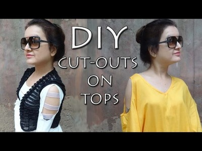 How to make Cut-Outs on tops -  DIY Cut-outs (Hindi)