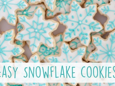 How to Make EASY Snowflake Cookies