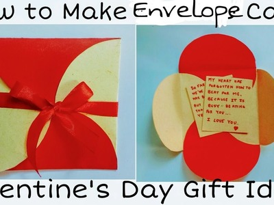 How to Make Envelope Card | Valentine's Day Card for Boyfriend. Girlfriend