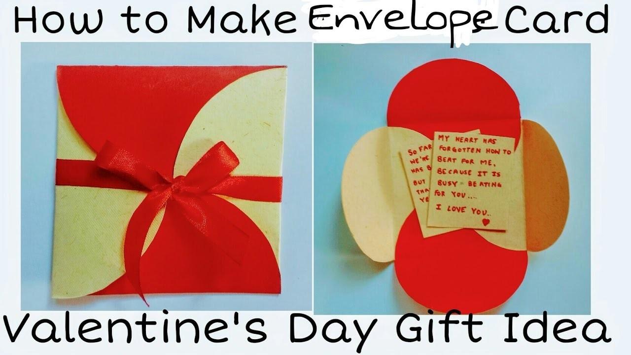 How to Make Envelope Card | Valentine's Day Card for Boyfriend. Girlfriend