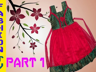 How to make frock at home.frock for girls (PART-1)