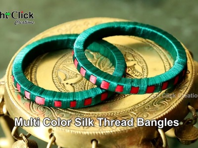 How to make Multi Color Silk Thread Bangles