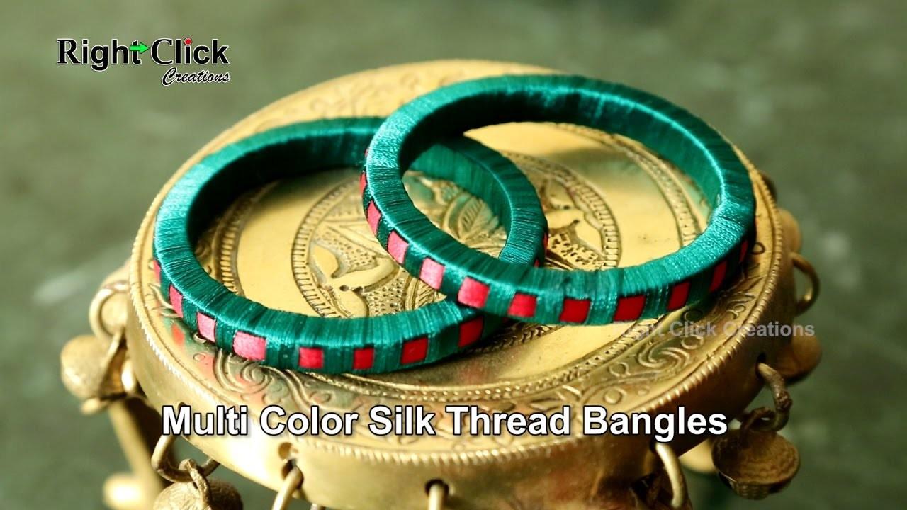 How to make Multi Color Silk Thread Bangles