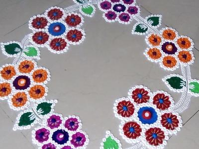 How to make new easy rangoli designs.