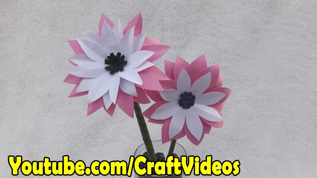 How To Make Paper Flowers Paper Flower Making Step By Step