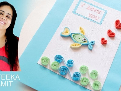How to make paper quilling Valentine's day cards