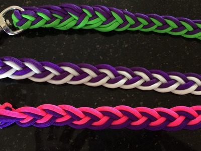 How to make paracord reins -  split and loop (no buckle) 2 colours