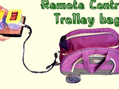 How to Make Remote Control Luggage Trolley Bag at Home - very simple