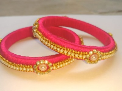 How to make silk thread bangles at home   indian silk thread bangles, diy silk thread bangles