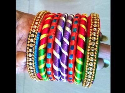 How to make silk thread bangles set