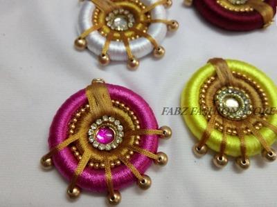 How to Make Silk Thread Pendant | DIY Jewellery Making