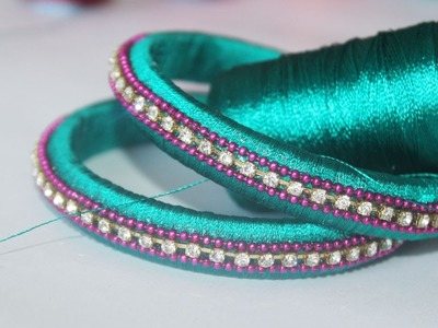 How To Make Simple Silk Thread Bangles at Home | Beginners