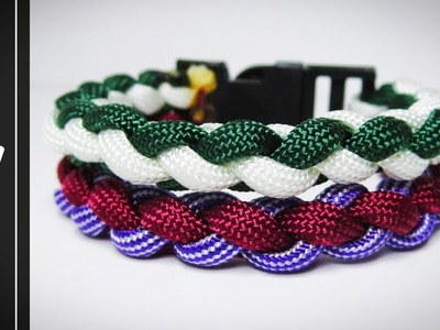 How to make The Double Round Four Strand Paracord Survival Bracelet