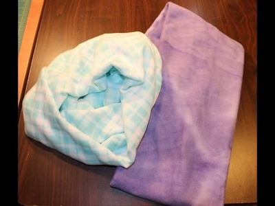 How to Sew a Fleece Infinity Scarf