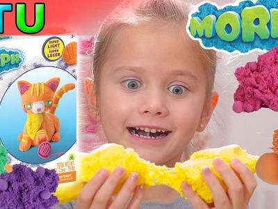 Kinetic Sand - Kinetic foam asmr DIY - Morph Sand Toys - DCTC Playdoh Video toys for Kids by Kyla