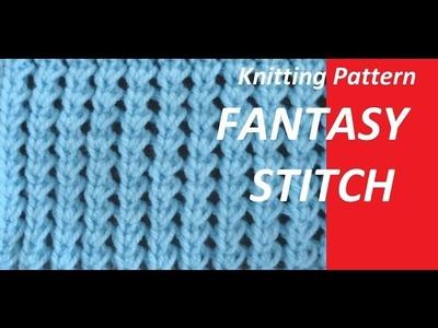 Knitting Pattern * VERY PRETTY FANTASY STITCH *