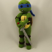 Ninja Turtles Leonardo Amigurumi Crochet Pattern