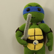 Ninja Turtles Leonardo Amigurumi Crochet Pattern