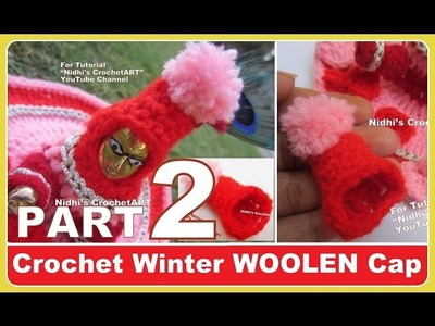 PART 2-How to Crochet Vagha NEW Winter Woolen Cap for Ladoo Gopal Little Lord Krishna Tutorial